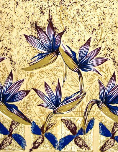 Alfred Shaheen - Bird of Paradise Border