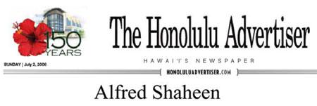 Alfred Shaheen - The Honolulu Advertiser